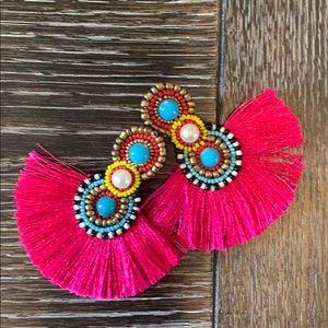 Tribal fringe earrings